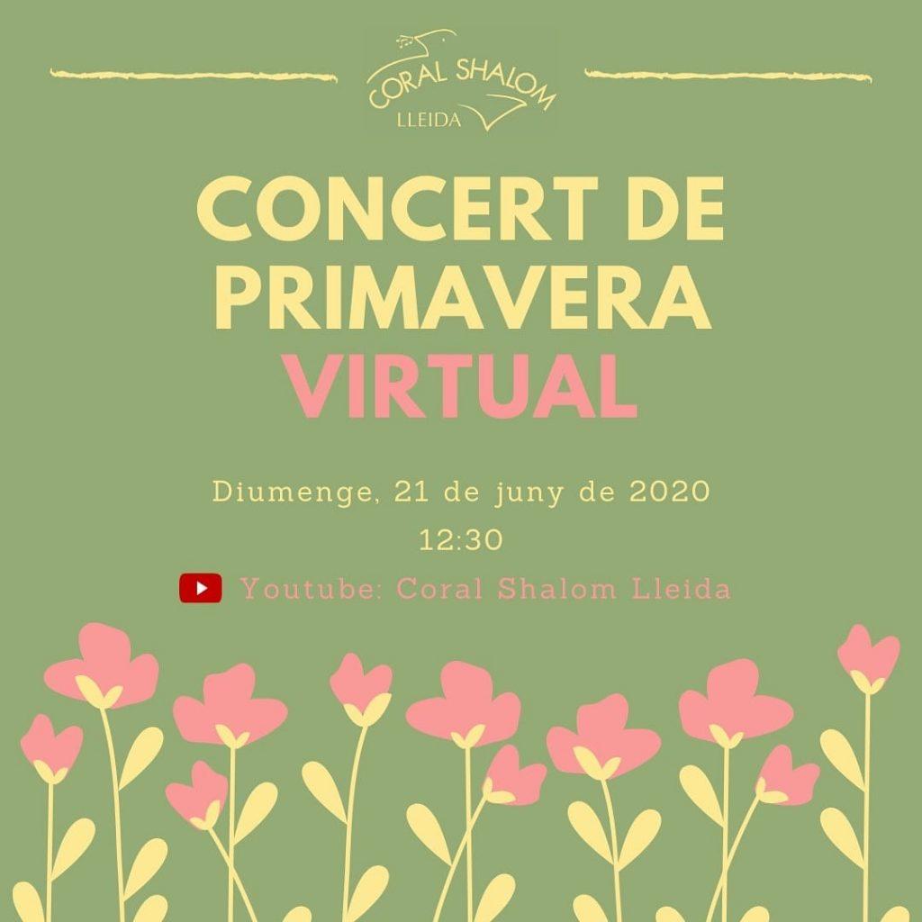 cartell del concert de primavera virtual de la Coral Shalom Lleida 2020